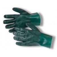 GREEN PVC GLOVES 27cm
