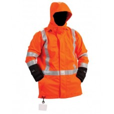 ORANGE LINED RAINJACKET