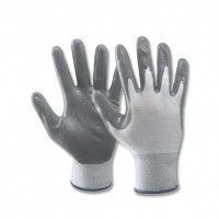 GREY NITRILE GLOVES
